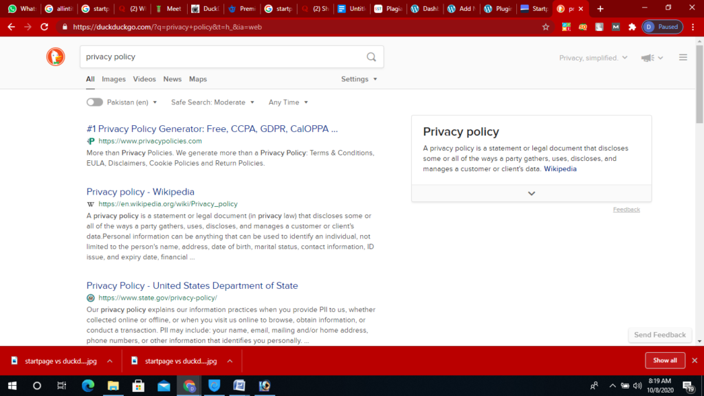 duckduckgo-result-page-private-search-engines