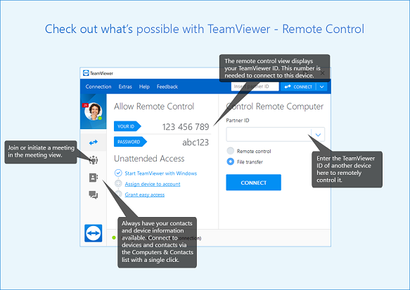 Remotely Access Android Phone from PC in TeamViewer